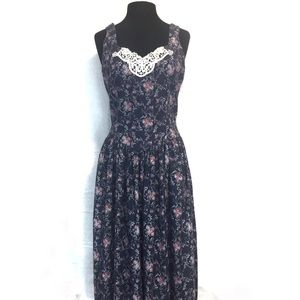Gunne Sax Jessica McClintock Vintage Floral Dress